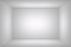 White simple empty room Stock Images