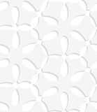 White simple flower seamless pattern Royalty Free Stock Photography