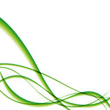 White simple template with green waves Royalty Free Stock Images