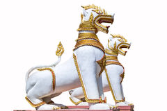 White singha statue Stock Image