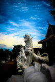 White Singha in temple Stock Photography
