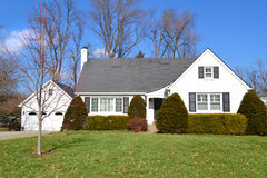 White Single Family Home royalty free stock images