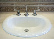 White sink Royalty Free Stock Image