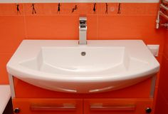 White  sink Royalty Free Stock Photo