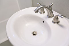 White sink in bathroom. Stock Image