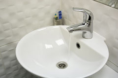 White sink Royalty Free Stock Images