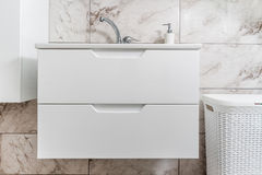 White Sink, Faucet and Closet Stock Photography