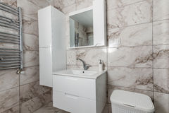 White Sink, Faucet and Closet Royalty Free Stock Photos