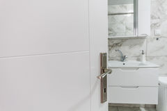 White Sink, Faucet and Closet Royalty Free Stock Photography