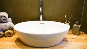 White sink in spa Royalty Free Stock Image