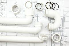 White siphon on plan Stock Image