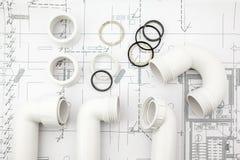 White siphon on plan Stock Photo