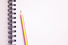 White sketch book Royalty Free Stock Images