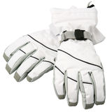 White ski gloves, with clipping path Royalty Free Stock Photography