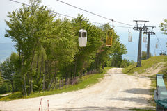Ski lift - gondola Royalty Free Stock Image