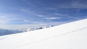 White ski slope Royalty Free Stock Images
