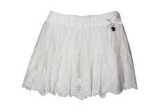 White skirt for girl Royalty Free Stock Photo