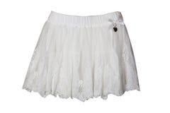 White skirt for girl Royalty Free Stock Photo
