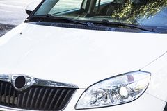 White skoda fabia Royalty Free Stock Photography