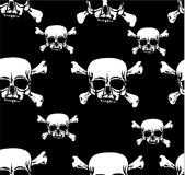 White skull and bones background Royalty Free Stock Photography