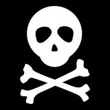 Skull and crossbones on black Royalty Free Stock Image