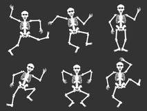 White skull dancer silhouettes Royalty Free Stock Image