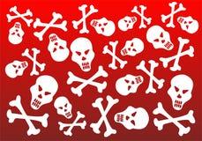 White skulls background Royalty Free Stock Images
