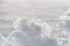 White sky and puffy cloud. Royalty Free Stock Photos