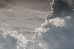 White sky and puffy cloud. Royalty Free Stock Photo