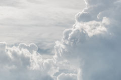 White sky and puffy cloud. Stock Photo
