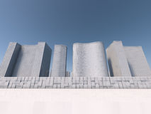 White skyscapers 3d rendering Stock Photo