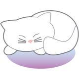 White Sleeping Kitty Royalty Free Stock Photography