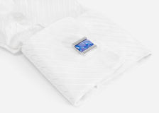 White sleeve with blue cuff link Stock Photography