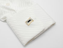 White sleeve with cuff link Royalty Free Stock Photos