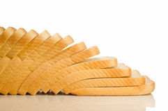White sliced bread. Isolated on a white background Royalty Free Stock Photo