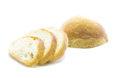 White sliced fresh bread recipe with raw Stock Images