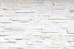 White sliced stone wall Royalty Free Stock Image