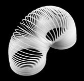 White Slinky Flexible Spring Royalty Free Stock Photo