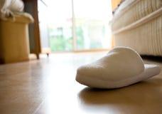 White slipper royalty free stock image