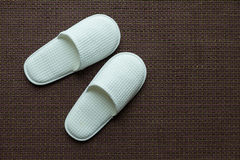 White slipper Royalty Free Stock Images