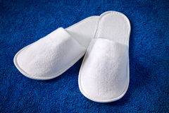 White slippers Royalty Free Stock Image