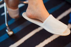 White slippers Royalty Free Stock Images