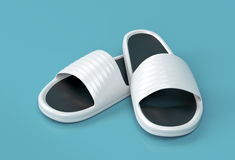 White slippers Royalty Free Stock Photos