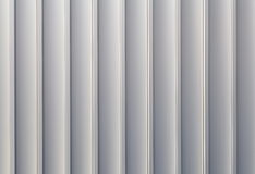 White sliver corrugated metal Stock Photo
