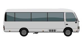 White small bus Royalty Free Stock Photos