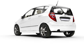White Small Car Royalty Free Stock Photography
