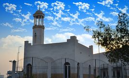White small Mosque in jeddah. Out of the buildings at afternoon Royalty Free Stock Photo