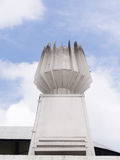 White small torch at  Stadium Building Royalty Free Stock Photography
