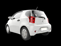 White small urban modern electric car - taillight view Stock Image