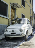 White small vintage Fiat Abarth Stock Image